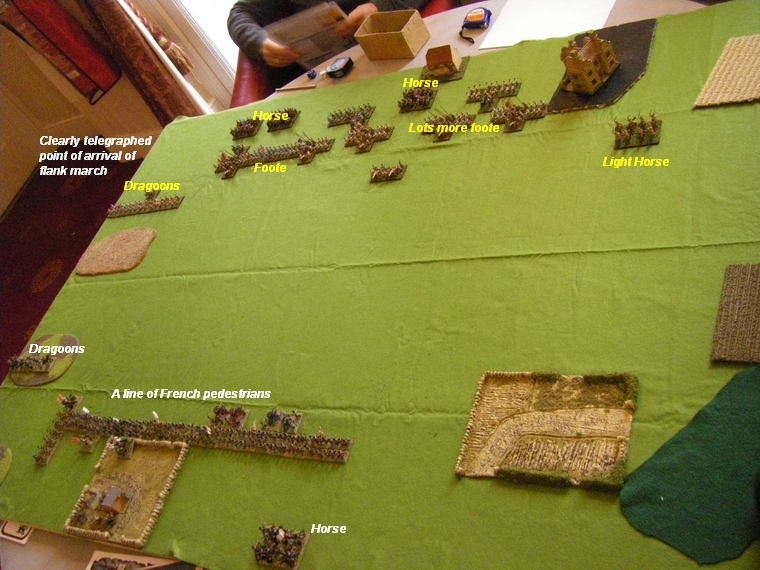 Battle deployment, FoGR Age of the Sun King: Later Louis XIV French vs Habsburg Austrian, 15mm