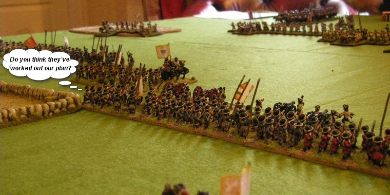 FoGR Age of the Sun King: Later Louis XIV French prepare to be charged by Habsburg Austrians, Essex Miniatures 15mm
